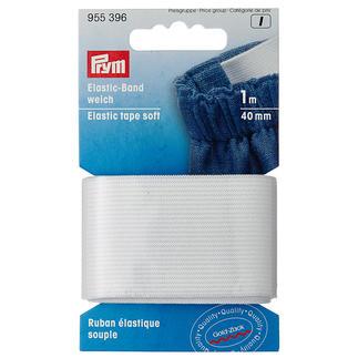 Prym Elasticband, Weiß, 4 mm breit, 1 m lang Prym Elasticband, Weich