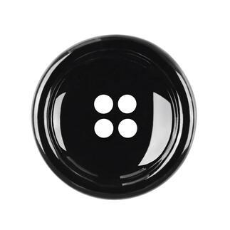 Knopf aus Kunststoff, Schwarz, 1 Stück