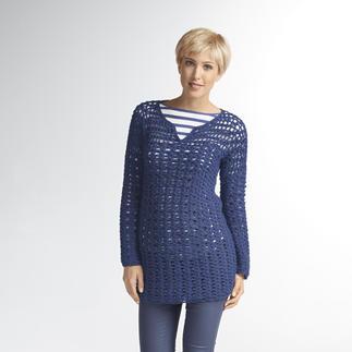Anleitung 105/3, gehäkelter Pullover aus Peru von Junghans-Wolle