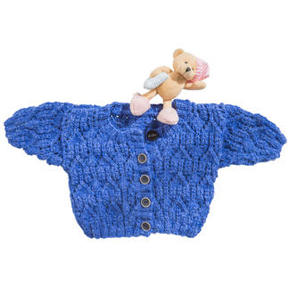 Anleitung 116/7, Babyjacke aus Muse von Junghans-Wolle