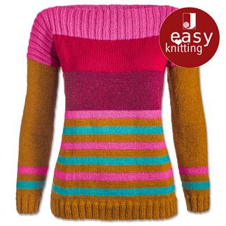 Anleitung 124/7, Damenpullover aus Aparta-Nova von Junghans-Wolle