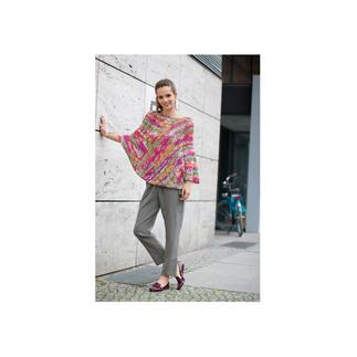 Anleitung 375/7, Damen Häkelponcho aus Bandy Color von Woolly Hugs
