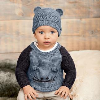 Anleitung 076/8, Baby Pullover & Mütze aus Baby Classic dk von Rico Design
