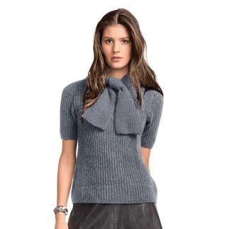 Anleitung 081/8, Damenpullover mit Schal aus Kaschmir von Junghans-Wolle