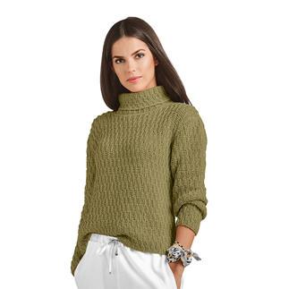 Anleitung 113/8, Damenpullover aus Cottonprima von Junghans-Wolle