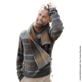 Anleitung 416/8, Pullover aus Slow Wool Canapa und Schal aus Gomitolo Versione von Lana Grossa Anleitung 416/8, Pullover aus Slow Wool Canapa und Schal, ca. 23 x 164 cm aus Gomitolo Versione von Lana Grossa