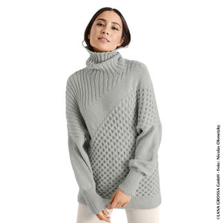 Anleitung 417/8, Pullover aus Cool Wool Cashmere von Lana Grossa
