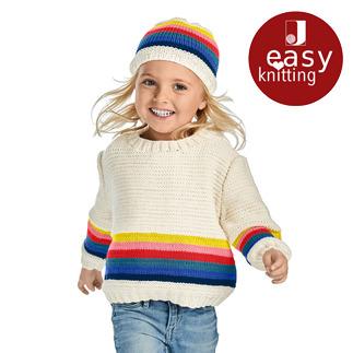 Anleitung 071/9, Pullover und Mütze aus Merino-Cotton von Junghans-Wolle