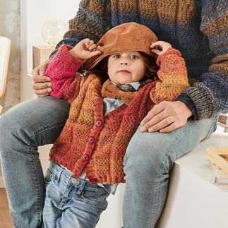 Anleitung 170/9, Kinderjacke aus Monello-175 Color von Junghans-Wolle