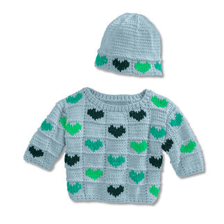 Anleitung 265/9, Babypulli mit Mütze aus Cotonara von Junghans-Wolle