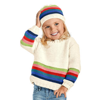 Anleitung 365/9, Pullover und Mütze aus Merino-Cotton von Junghans-Wolle