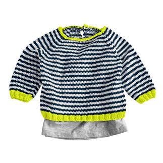 Anleitung 015/0, Babypulli aus Cotonia II von Junghans-Wolle