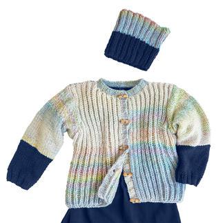 Anleitung 081/0, Jacke und Loop aus Monello-90 Color und -Uni von Junghans-Wolle
