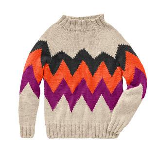 Anleitung 398/0, Pullover aus Monello-90 Uni von Junghans-Wolle
