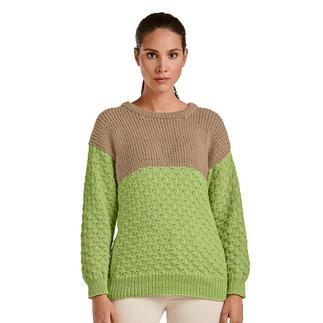 Anleitung 399/0, Pullover aus Merino-Cotton von Junghans-Wolle