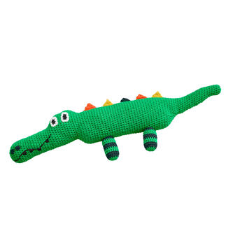 Anleitung 005/1, Krokodil aus Cotonara von Junghans-Wolle Anleitung 005/1, Krokodil, Länge ca. 58 cm aus Cotonara von Junghans-Wolle