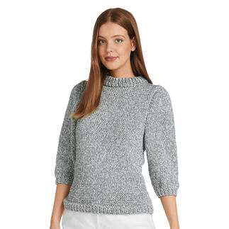Anleitung 011/1, Pullover, 2-fädig aus Bandana und Rima von Junghans-Wolle