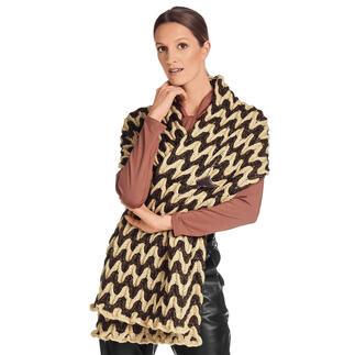 Anleitung 127/1, Schal aus Wool-Cotton von Junghans-Wolle Anleitung 127/1, Schal, ca. 42 x 200 cm aus Wool-Cotton von Junghans-Wolle