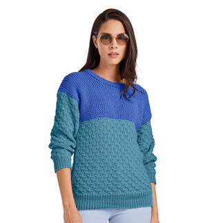 Anleitung 213/1, Pullover aus Merino-Cotton von Junghans-Wolle