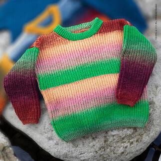 Anleitung 227/1, Kinder-Pullover aus Merino 150 Dégradé von LANG Yarns