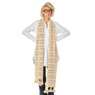 Anleitung 260/1, Schal mit Quasten aus Peru von Junghans-Wolle Anleitung 260/1, Schal, ca. 35 x 180 cm mit Quasten aus Peru von Junghans-Wolle