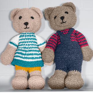 Anleitung 358/1, Gehäkeltes Bärenpaar aus Frottee XL von Woolly Hugs Anleitung 358/1, Gehäkeltes Bärenpaar, ca. 45 cm aus Frottee XL von Woolly Hugs