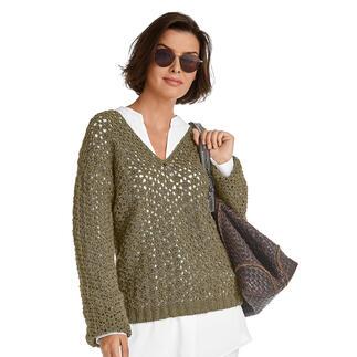Anleitung 385/1, Pullover, gehäkelt aus Onda von Junghans-Wolle