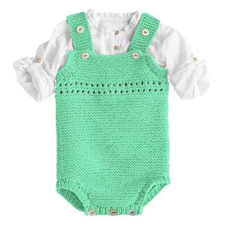 Anleitung 443/1, Babystrampler aus Nuovo Merino 120 von Junghans-Wolle