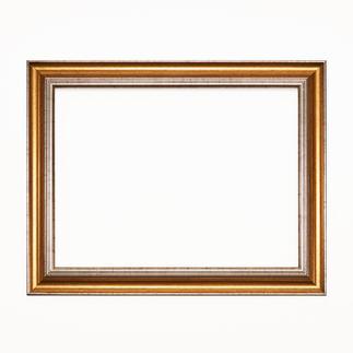 Bilderrahmen, Gold-Silber, Falzmaß 47 x 36 cm, Außenmaß 56 x 45 cm Bilderrahmen, Gold-Silberfarben