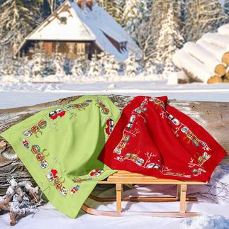 Tischdecke - Fröhliche Tierparade Tierische Weihnachten.