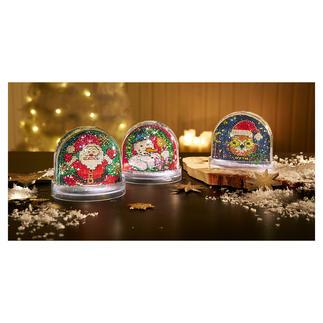 Schneekugeln Traditionsreiche Weihnachts-Stickerei.