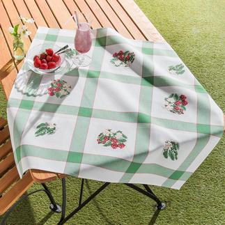 Aida-Tischdecke - Erdbeeren