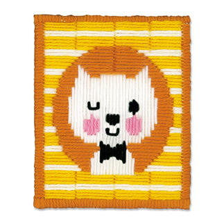 Stickbild - Zwinkernde Katze Stickspaß für Kinder