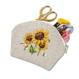 Täschchen - Nature Look Sonnenblumen Easy Stitching -