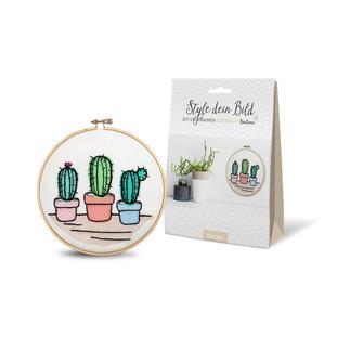 "DIY-Stickrahmen-Set - Cactus DIY-Stickrahmen-Set ""Style dein Bild"""