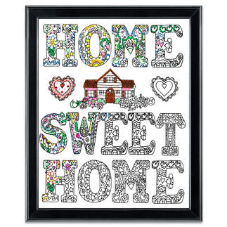 "Stickbild Zenbroidery - Home Sweet Home Stickbild Zenbroidery ""Home Sweet Home"""