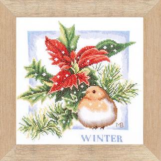 Jahreszeiten-Stickbilder - nach Marjolein Bastin