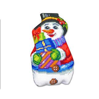 Formkissen - Schneemann mit Geschenken