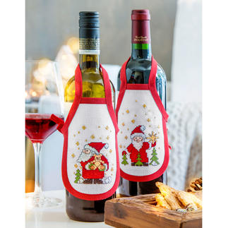 Creativ-Set Flaschenschürzen - Santa