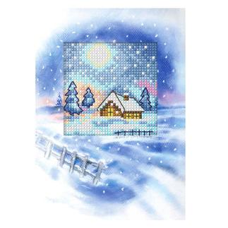 Grußkarten mit Umschlägen im Set Weiße Weihnachten