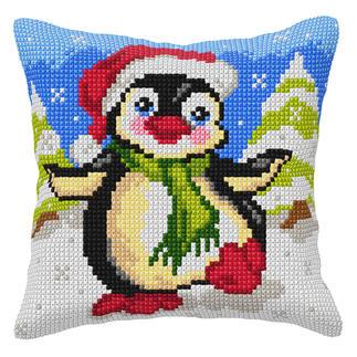 Kreuzstichkissen - Pinguin