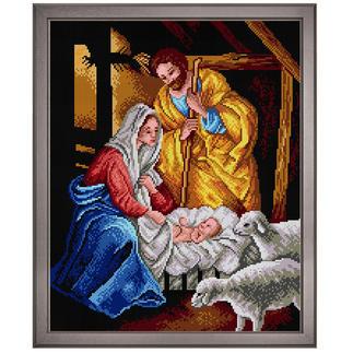Klassisches Gobelinbild - Heilige Familie Zeitloser Weihnachts-Klassiker