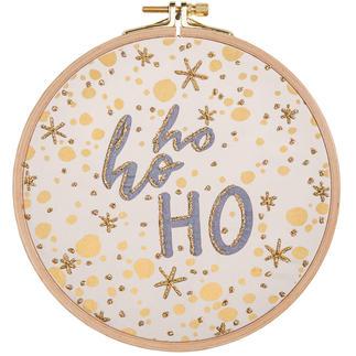 Statement-Bild - Ho ho ho Statement-Stickbilder mit Rahmen.