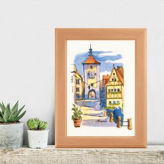 Paint by threads - Rothenburg Paint by threads – Sticken mit 3D-Effekt.