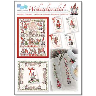 Weihnachtswichtel, Kreuzstich-Zählmuster- Vorlagen