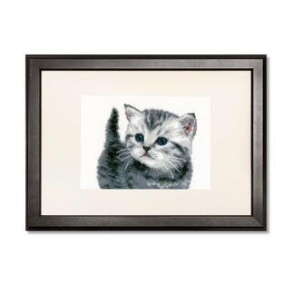 Kreuzstichbild - Kätzchen Dekoratives Stickbild - Kätzchen