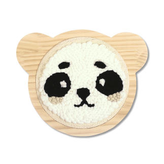Punch-Needle-Kit - Panda, Ø 15 cm, Rahmen 18 x 15 cm Punch-Needle-Kit - Panda, Ø 15 cm
