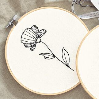 Stickbild - Line Art Mohn I Trendthema Line Art