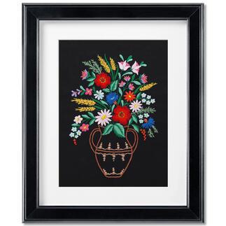Stickbild - Blumenbouquet
