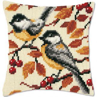 Kreuzstichkissen - Vögel